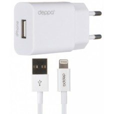 Сетевое зарядное устройство Deppa Ultra USB 1А, 8-pin